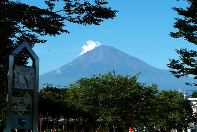 御神火まつりの富士山
