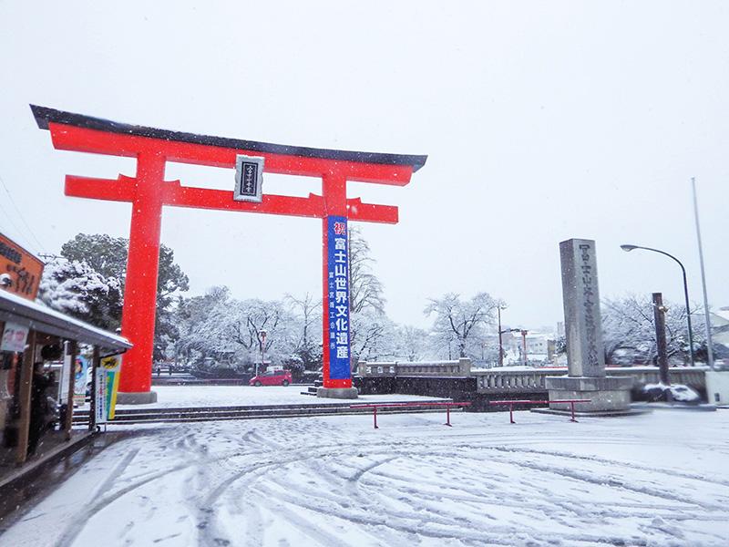 浅間大社雪景色1