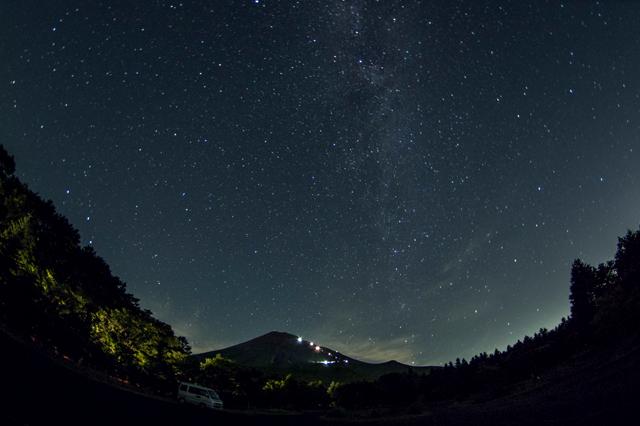 西臼塚からの星空