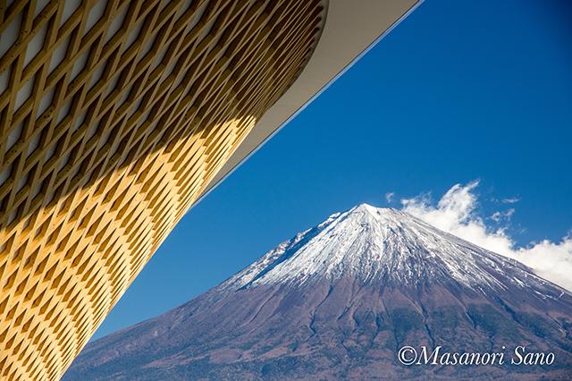 世界遺産センターと富士山